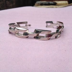 Vintage Modernist Bar Link Sterling Bracelet
